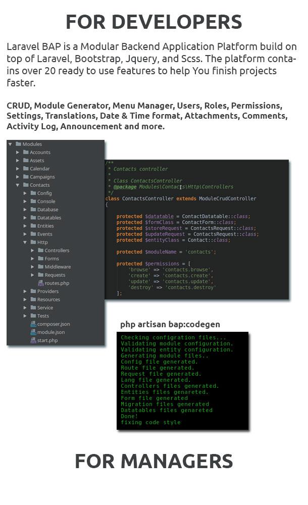 Laravel BAP - Modular Application Platform and CRM - 2