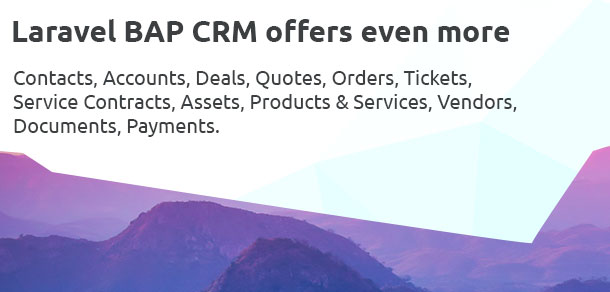 Laravel BAP - Modular Application Platform and CRM - 7