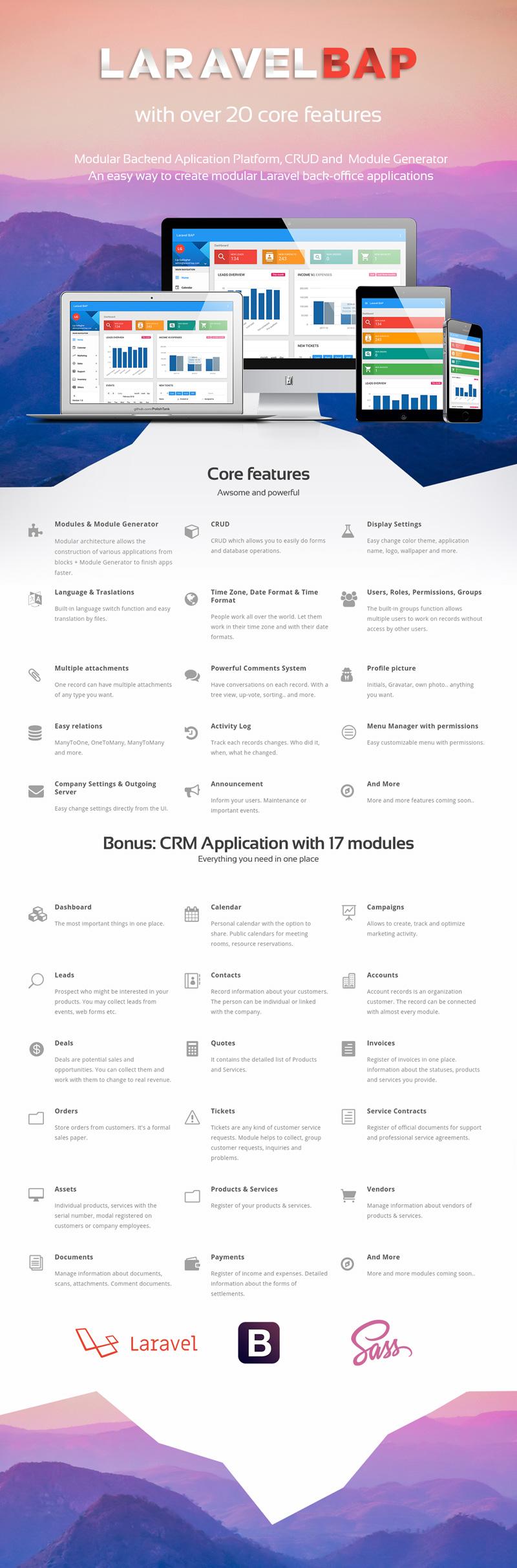 Laravel BAP - Modular Application Platform and CRM - 1